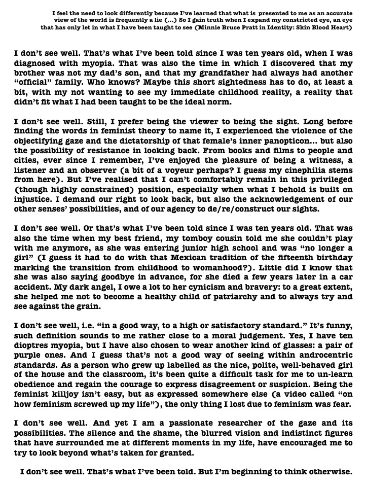 A one-page text, organized in six paragraphs and an opening quote. Black letters on a white background.